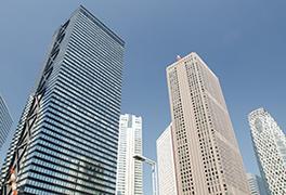 高層ビルのバナー